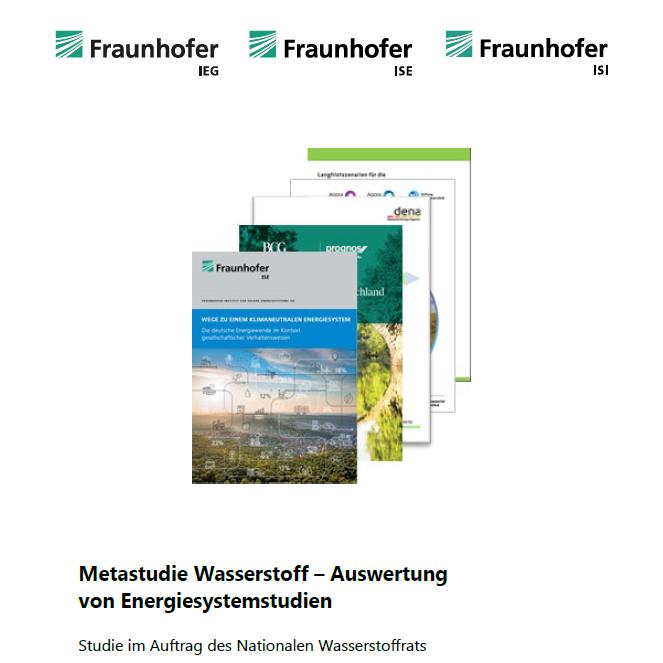 Fraunhofer haben im Auftrag des Nationalen Wasserstoffrats neue Metastudie verfasst