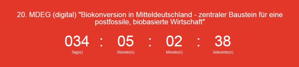 Save the Date: 20. MDEG (digital) am 26.08.2021, ab 18 Uhr